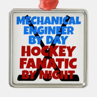 Hockey Lover Mechanical Engineer Metal Ornament