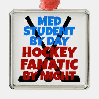 Hockey Lover Med Student Metal Ornament