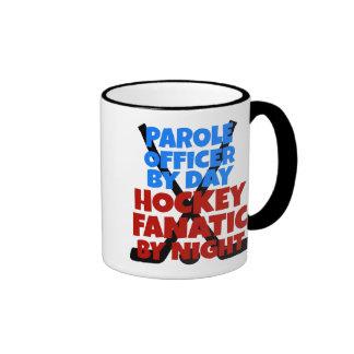 Hockey Lover Parole Officer Ringer Mug