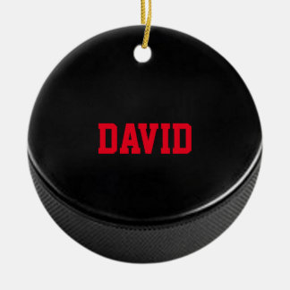 Hockey Lover Personalized Ornament