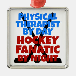 Hockey Lover Physical Therapist Metal Ornament