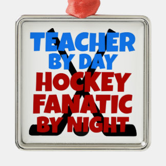 Hockey Lover Teacher Metal Ornament