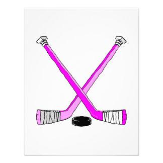 Hockey magenta anuncio personalizado