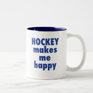 HOCKEY makes me happy mug