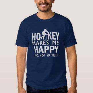 Hockey makes me happy tee shirt