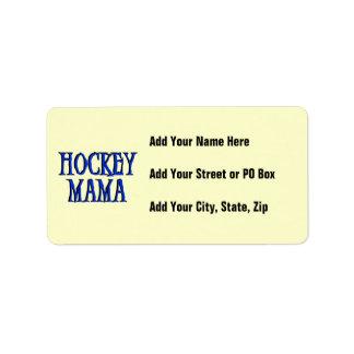 Hockey Mama Blue T-shirts and Gifts Address Label