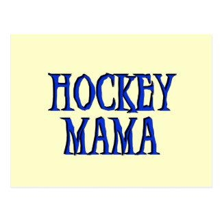 Hockey Mama Blue T-shirts and Gifts Postcard
