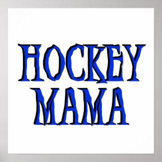 Hockey Mama Blue T-shirts and Gifts Poster