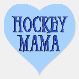 Hockey Mama Blue T-shirts and Gifts Heart Sticker
