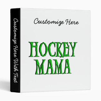 Hockey Mama Green T-shirts and Gifts Vinyl Binder