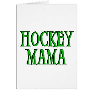 Hockey Mama Green T-shirts and Gifts Card