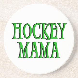 Hockey Mama Green T-shirts and Gifts Drink Coasters