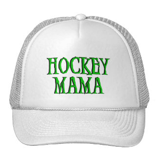 Hockey Mama Green T-shirts and Gifts Mesh Hats