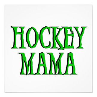 Hockey Mama Green T-shirts and Gifts Personalized Invitation