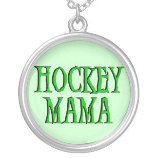 Hockey Mama Green T-shirts and Gifts Pendant