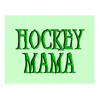 Hockey Mama Green T-shirts and Gifts Postcards