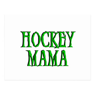 Hockey Mama Green T-shirts and Gifts Postcard