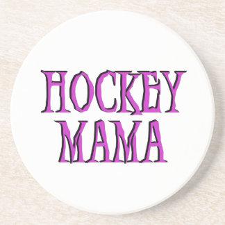 Hockey Mama Hot Pink T-shirts and Gifts Beverage Coasters