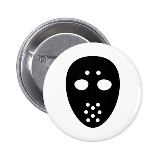 Hockey mask buttons