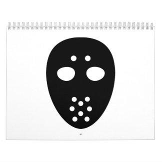 Hockey mask calendar