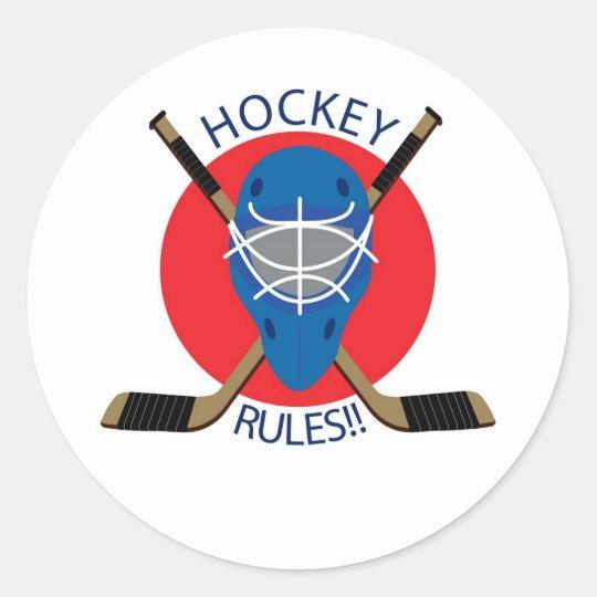 Hockey Mask Classic Round Sticker