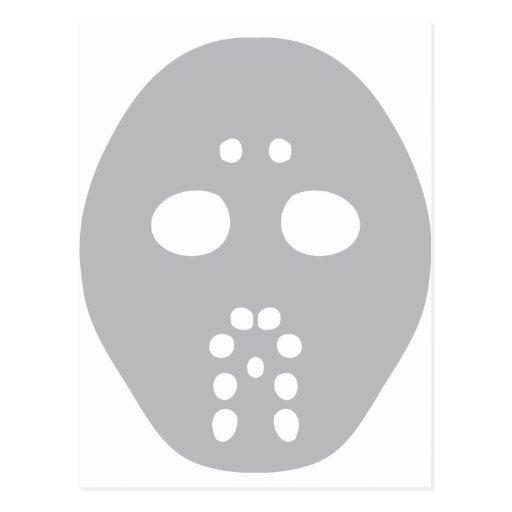 hockey mask postcard