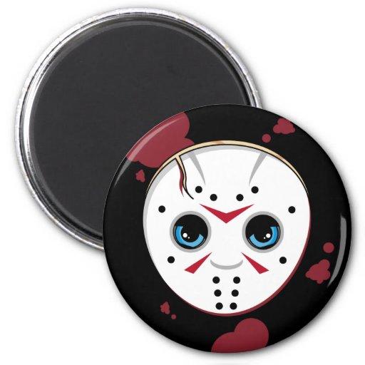 Hockey Mask Serial Killer Fridge Magnet