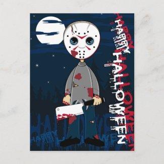 Hockey Mask Serial Killer Postcard postcard