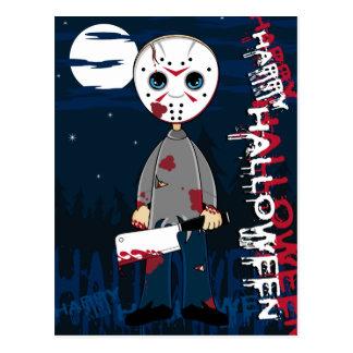 Hockey Mask Serial Killer Postcard