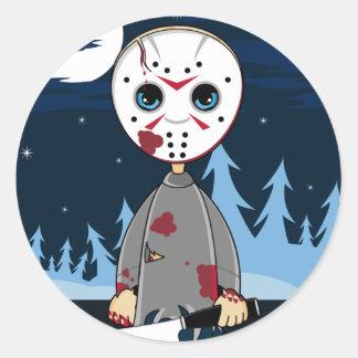 Hockey Mask Serial Killer Sticker Sheet
