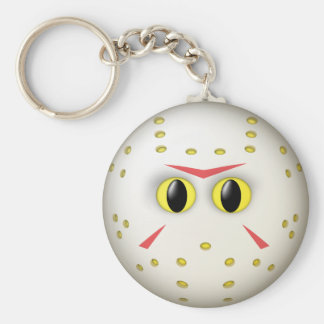 Hockey Mask Smiley Face Keychain