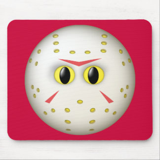 Hockey Mask Smiley Face Mouse Pads