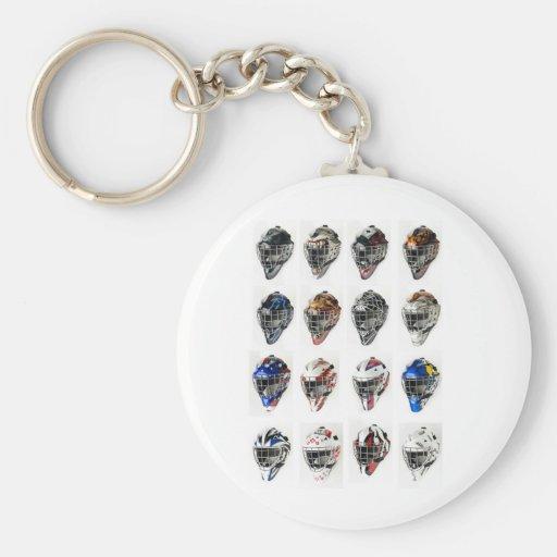 Hockey Masks Basic Round Button Keychain