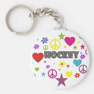 Hockey Mixed Graphics Keychain