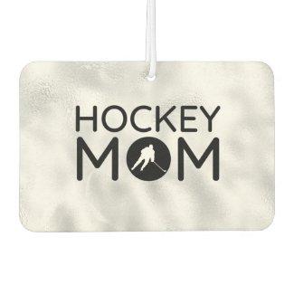 Hockey Mom Air Freshener circle silver