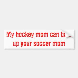 Hockey Mom Car Bumper Sticker