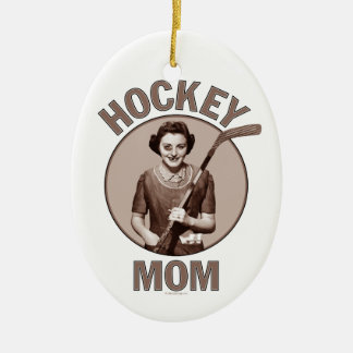Hockey Mom Ceramic Ornament