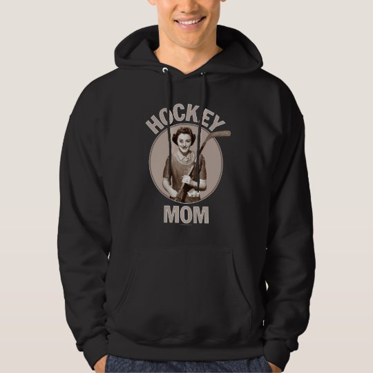 Hockey Mom dark hoodie