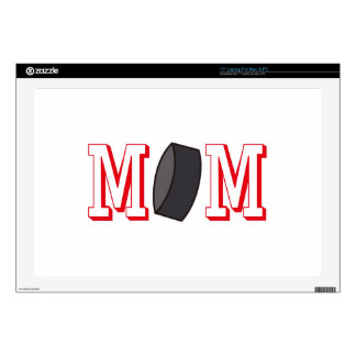 "Hockey Mom Decal For 17"" Laptop"