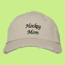 Hockey Mom Embroidered Baseball Hat