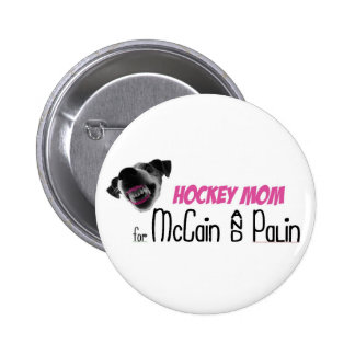 Hockey Mom for McCain & Palin Pinback Button