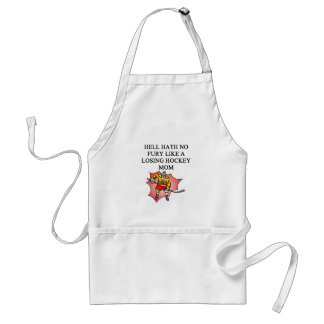 hockey mom joke adult apron