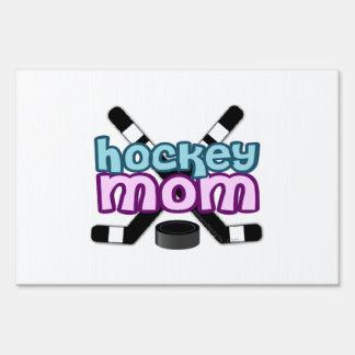 Hockey Mom Lawn Sign