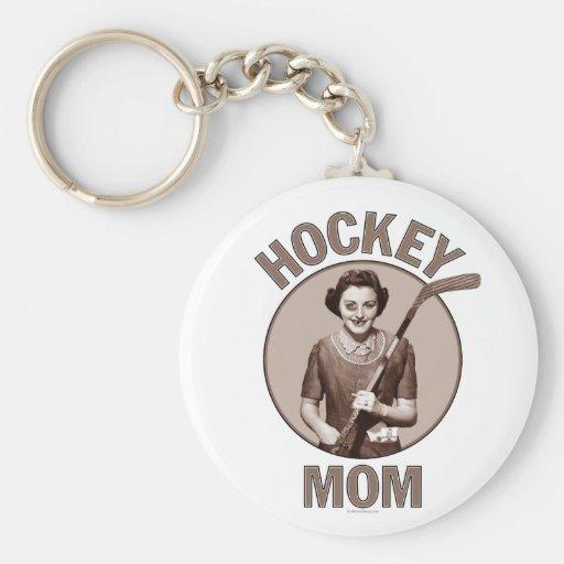 Hockey Mom light keychain