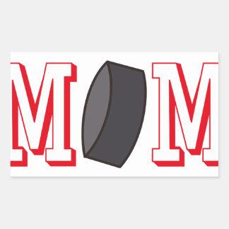 Hockey Mom Rectangular Sticker