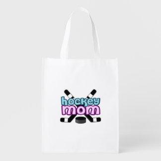 Hockey Mom Reusable Grocery Bag