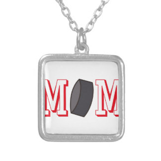 Hockey Mom Square Pendant Necklace