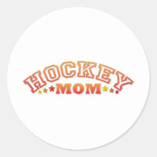 Hockey Mom Classic Round Sticker
