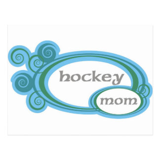 Hockey Mom Swirl Postcard