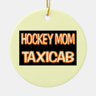 Hockey Mom Taxi Ceramic Ornament